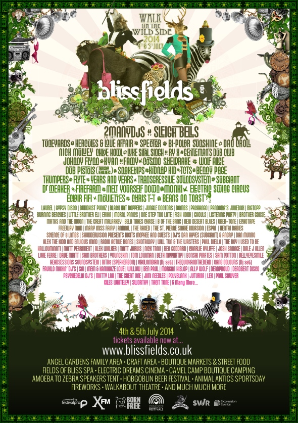 Blissfields 2nd announce full line up
